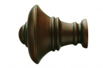 Antique walnut decorative finials