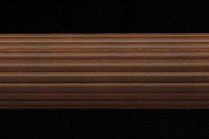 Antique walnut 4ft long fluted wooden curtain rods
