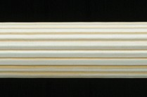 Silver & gold 4ft long fluted wooden curtain rods