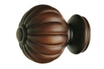 Antique walnut decorative wood finials