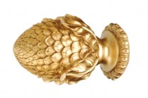 Antique gold decorative wood finials