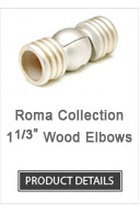 Wood Curtain Rod Elbows Roma Collection