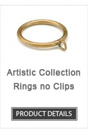 Iron Curtain Rod Rings Artistic Collection