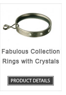 Iron Curtain Rod Rings with Crystals Fabulous Collection