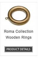 Wooden Curtain Rod Rings Roma Collection