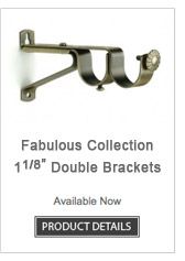Iron Double Curtain Rod Brackets Fabulous Collection
