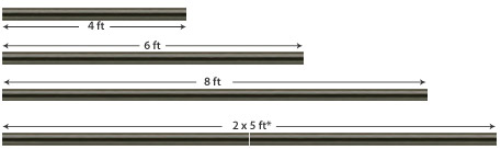 curtain pole lengths