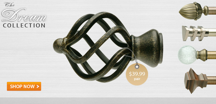 Dream Curtain Rods Dry Hardware